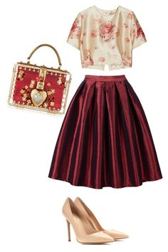 Untitled #38 by nadianadia1213 on Polyvore featuring polyvore, мода, style, Vilshenko, Gianvito Rossi and Dolce&Gabbana