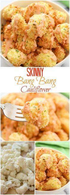 Skinny Bang Bang Cauliflower. This fat free Bang Bang sauce is just as tasty, but without all the guilt!
