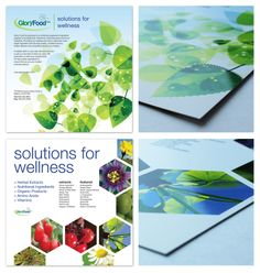 This was an 8X8, 2 sided handout that we designed for Glory Food featuring a nice spot UV finish.