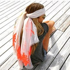 Elle McPherson sporting India Hicks Siren Scarf!  #indiahicks #scarf #sarong…  SHOP IT HERE-https://www.indiahicks.com//rep/pjfitz to shop India Hicks new Lifestyle brand. Great accessories and body care products. Contact me directly for questions or help.
