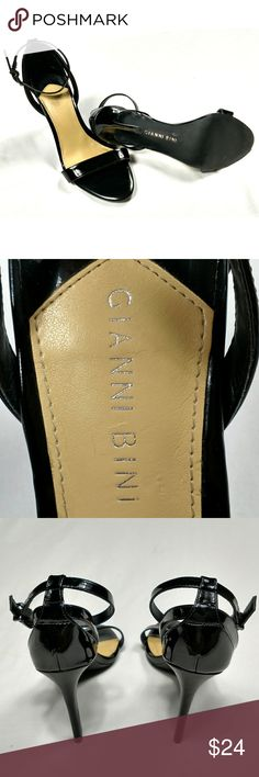 Gianni Bini Black Ankle Strap Stiletto size 8.9 Gianni Bini Black Ankle Strap, open toe Stiletto Heels Sandal Women's Size 8.5. pre-loved in great condition. Gianni Bini Shoes Heels