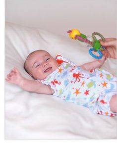 Simple ideas for playing with baby each week to stimulate development