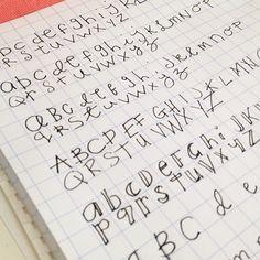 lettering practice. Practice practice practice! alphabet typography notebook journal, via Flickr.