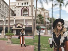 Haute Khuuture Blog, Personal Style,  Free People Dress, Striped Dress, Janessa Leone Hat, Black Booties, Cheetah Print Bag, Karen Walker Sunglasses