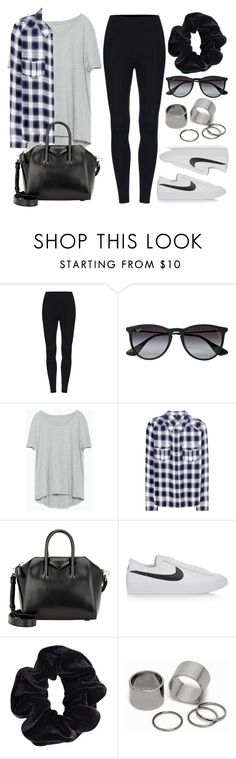 """""""Style #9928"""" by vany-alvarado ❤ liked on Polyvore featuring Ray-Ban, Zara, Paige Denim, Givenchy, NIKE, American Apparel and Pieces"""