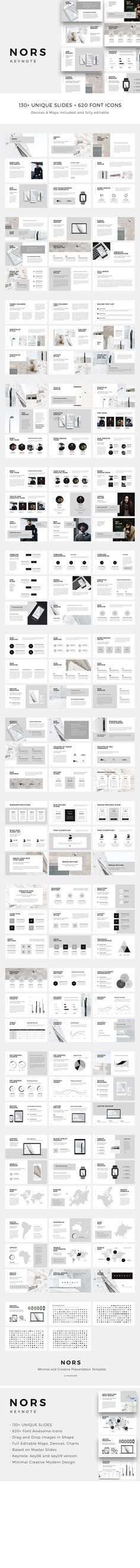 NORS Keynote Template Presentation Slides modern, creative, minimal, clean and professional design for Business, Agency, Marketing, Proposal + Big Bonus Free Stock Photos and Psd Mockups are in download included by PixaSquare on @creativemarket