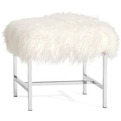 Pottery Barn Tavi Mongolian Faux Fur Stool ($249) ❤ liked on Polyvore featuring home, furniture, stools, faux fur stool, pottery barn, pottery barn stools, padded stool and pottery barn furniture