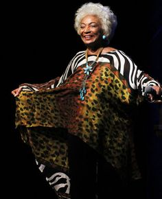Defining Fabulous: Actress Nichelle Nichols at Nichelle Nichols, Beautiful Black Women, Beautiful People, Belize, Ageless Beauty, Iconic Beauty, Peinados Pin Up, Brave, White Hair