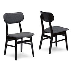Baxton Studio Debbie Faux Leather Dining Chair - Set of 2