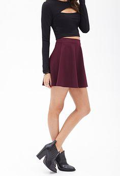 Matelassé Skater Skirt | FOREVER 21 - 2000060871 $13