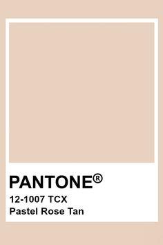 Pantone Pastel Rose Tan