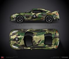 Wrap design concept #10 military camouflage for Nissan GTR R35