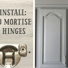 How to Install Concealed Hinges on Cabinet Doors Kitchen Cabinets Hinges, Cabinets To Ceiling, Laundry Room Cabinets, Built In Cabinets, Cabinet Doors, Gray Cabinets, Kitchen Soffit, Bay Window Curtain Rod, Concealed Hinges