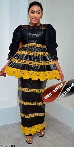 9098 Source by African Wear Dresses, African Wedding Dress, African Attire, Christine Fashion, African Fashion Traditional, African Blouses, Africa Fashion, African Women, Elegant Dresses