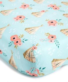 Tent & Rose Changing Pad Cover