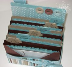 """This is a gift for my mother in law for her birthday.  (she's getting it today) Its """"loosely based""""/ """"slightly cased"""" from a card organizer ..."""