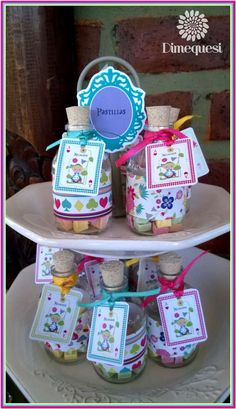 Alice in Wonderland birthday party favors! See more party planning ideas at CatchMyParty.com!
