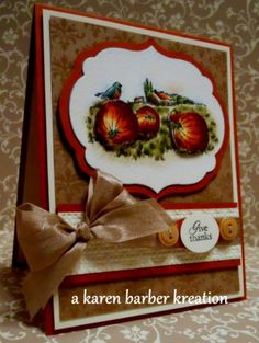 """Full of Blessings""  HAPPY THANKSGIVING EVERYONE! by Karen B Barber - Cards and Paper Crafts at Splitcoaststampers"