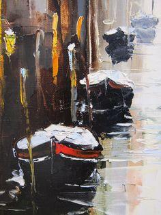 'Resting Lakeside' by Gleb Goloubetski Oil on Canvas 80cm x 50cm