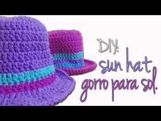 ▶ DIY CROCHET: sun hat / gorro para sol - YouTube