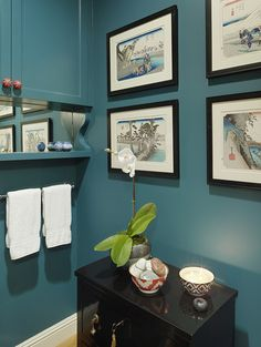 Sherwin Williams Deep Sea Dive. Main color for three walls in mudroom.