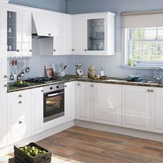 Modern White Shaker Kitchen tiles behind hob - google search | kitchen | pinterest | modern