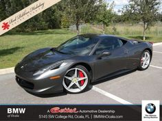 nice Awesome 2010 Ferrari 458 -- 2010 Ferrari 458 Italia Base 6,575 Miles Gray 2dr Car Gas V8 4.5L/275 Automatic 2018 Check more at http://mycarboard.com/awesome-2010-ferrari-458-2010-ferrari-458-italia-base-6575-miles-gray-2dr-car-gas-v8-4-5l275-automatic-2018/