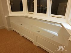 Fitted office desks, Electric and Boiler cupboards, custom whine racks, chest of drawers best at our fitted furniture company JV carpentry Window Storage Bench, Bay Window Benches, Stair Storage, Cupboard Storage, Window Seats, Bay Window Living Room, Ikea Dining Room, Under Stairs Cupboard, Radiator Cover