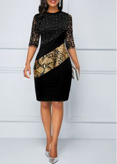 Shop black Dresses online,Dresses with cheap wholesale price,shipping to worldwide Cheap Black Dress, Trend Fashion, Womens Fashion, Black Dresses Online, Dress Online, Beige Pullover, Sexy Women, Leopard Dress, Necklines For Dresses