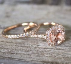 love the shade of the stone with the gold...very pretty & delicate wedding ring