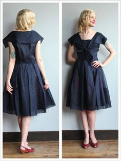A personal favorite from my Etsy shop https://www.etsy.com/listing/537319125/1950s-dress-silk-organdy-party-dress