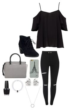 """""""Untitled #2285"""" by if-i-were-famous1 ❤ liked on Polyvore featuring Clarks, MICHAEL Michael Kors, Georgini, Everest, Michael Kors and OPI"""
