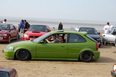 Organised by the inimitable Brian Damaged, the latest (and possibly last) Retro Rides Beach Party on Brean Sands was the biggest yet. Honda Hatchback, Corolla Hatchback, Honda Crx, Honda Civic, Honda Motors, Honda Bikes, Soichiro Honda, Street Racing Cars, Honda Ridgeline