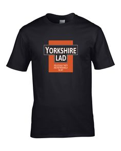 cool YORKSHIRE LAD- Deliciously Tasty Funny Parody Men's T-Shirt From FatCuckoo