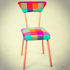 Bunu begendik! : DIY chair #furniture #mobilya #koltuk #berjer #interiordesign #interior #design #multicolor #armchair #colorful #rainbowcolors #vintage #picoftheday #igersistanbul #igersturkey #turkey #renkli #sandalye #turkuaz #benimolmalı #istiyorum #sari #yesil #mavi #igersankara #pembe