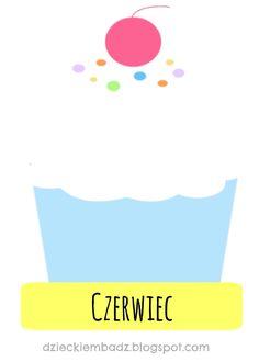Kalendarz urodzinowy dla dzieci do pobrania. Kindergarten, Classroom, Templates, Logos, School, Children, Crafts, Minka, Nice