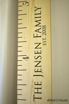 NEW - FAMILY NAME Add On -  for Ruler Growth Chart