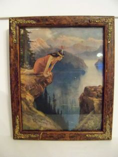 11 3/4 x 9 1/2 FRAMED INDIAN MAIDEN ~ LAND OF SKY BLUE WATER - DUPRE - R.A. FOX in Art, Art from Dealers & Resellers, Prints | eBay