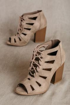 Shop Women's Shoes, Women's Lace Up Heels, Women's Suede Heels, Cutout Heels, Cute Black Heels, Trending Heels at ForElyse.com! FREE SHIPPING AVAILABLE!