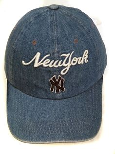New York Yankees MLB Baseball Cap DENIM mens womans clothing headwear hat  112 c6bf327ca7fe
