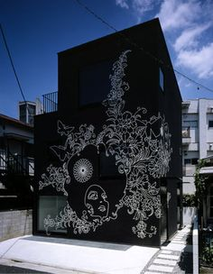 Sin Den - Jingumae, Shibuya-ku, Tokyo by Klein Dytham. Living space / Business, a hair salon, for a young couple and their baby.