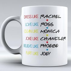 Friends TV show gift ideas for people who absolutely love the tv show Friends! Funny Friends quotes, mugs, and clothing for any Friends show fan! Friends Coffee Mug, Coffee Mug Quotes, Friend Mugs, Friend Quotes, Friends Tv Show Gifts, Best Friend Gifts, Funny Friend Gifts, Cute Gifts For Friends, Funny Gifts