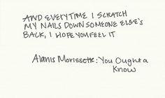 alanis morissette -YOU OUGHTA KNOW