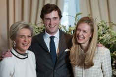16 February 2014 Today, official photo session on the occasion of engagement between  Prince Amedeo and Elisabetta Rosboch von Wolkenstein took place at Schonenberg residence in Brussels