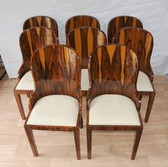 1920 Art Deco Furniture | Photo of Set Art Deco Dining Chairs Rosewood Furniture 1920s Interiors