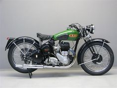 > This is a 1944 BSA M20 according to the description that was in this box before I re-pinned. It is beautiful. I love spring seats and the whole style.