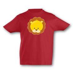 Kinder T-Shirt Tiergesicht Löwe. T-Shirt Tiergesicht Löwe, kurze Arme, Flexdruck