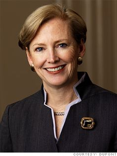5. Ellen Kullman  Chair of the board and CEO  DuPont  2011 rank: 4  Age: 56  Kullman, who became CEO of DuPont in 2009, continues her restructuring of the 210-year-old chemical company. Earlier this year she sold its autopaints business for 4.9 billion; analysts expect the CEO to push the company deeper into agriculture and nutrition.