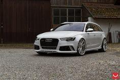 "Audi RS6   20"" Vossen Silver Polished CV4 Wheels"