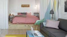 ARTICLE → Pinterest : 7 studios bien aménagés
